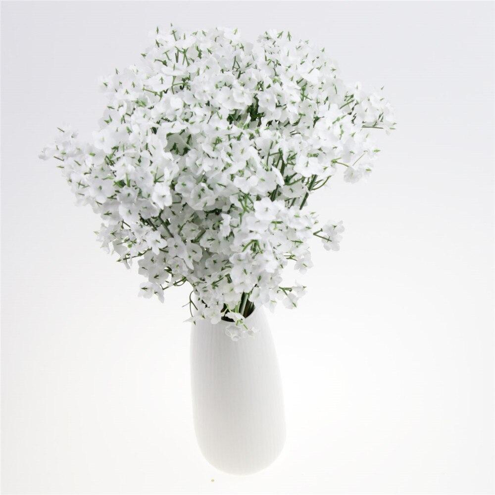White Fake Silk Diy Babys Breath Artificial Gypsophila Flowers