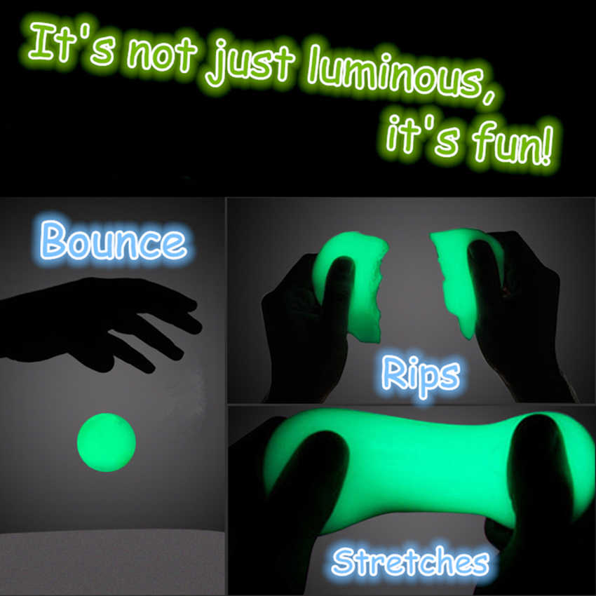 DIY Luminous Slime Modeling Clay Light Glow In The Dark Bouncing Mud Plasticine Playdough Education Novelty Creative Kids Toys