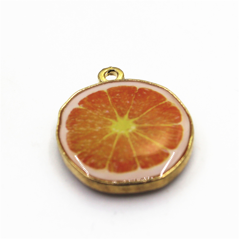 New Arrive 20pcs Fruit Haning Charm Orange Charms For DIY Bracelets Necklace Dangle Charm Findings Jewelry Accessories