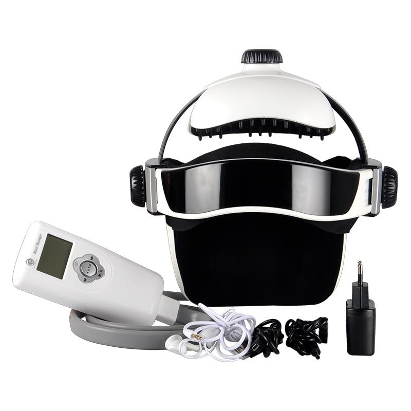 Electric Head Massager Brain Massage Adjustable Size Instrument Helmet With Music Head Massage Life Relaxation Health Care Equip недорого