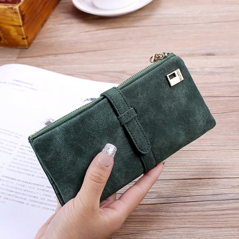 Solid Color Women wallet card holder female wallet women's purse Coin Purse Wristlet Money Bag Small Bag More Color Clutch #925 stylish women s solid color pleated culotte