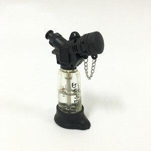 Image 3 - Encendedor de cigarros de butano Jet compacto caliente antorcha Turbo Gas cigarrillo 1300 C encendedor a prueba de viento sin Gas