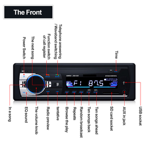 Image 3 - Wireless Audio Adapter 12V Handsfree 1 Din Bluetooth Car Radio Stereo MP3 Music Player 3.5mm USB SD AUX FM U Disk Phone Charging