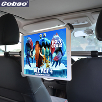 Cobao universal metal Aluminum tablet stand for iPad holder car backseat headrest holder for tablet iPad air pro 9.5 9.7 12.9 13