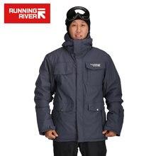 Запуск бренда River лыжные куртки мужчин теплый Мужской спорт на открытом воздухе сноуборд пальто chaquetas в Mmasculina Ветрозащитный пункт Омбре #A3286