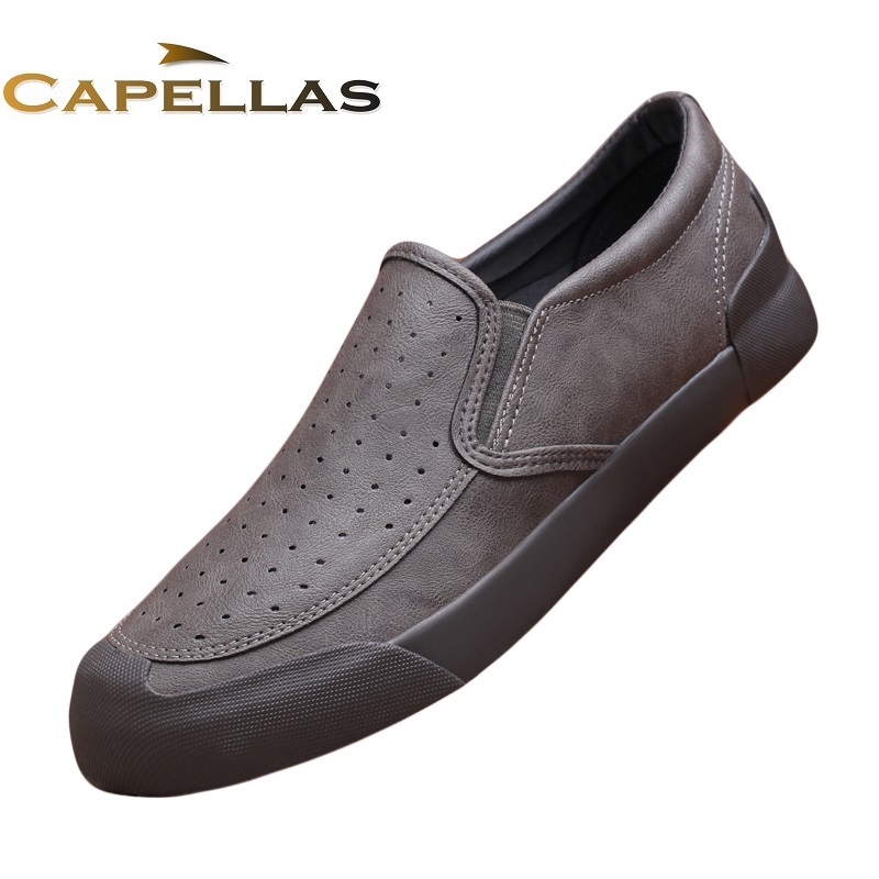 New 2017 Men Casual Shoes Mens Fashion Brand Shoes Breathable Shoes for Men Slip-On Men`s Leather Shoes Zapatillas Size EU 39-44 2017 brand men s penny loafes casual men s full grain leather emboss crocodile driver shoes slip on breathable moccasins for men