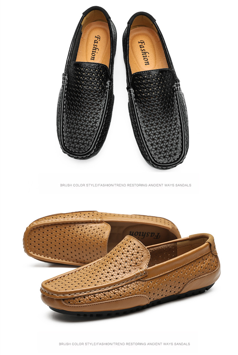 HTB1dmgFM9zqK1RjSZFjq6zlCFXaq Summer Men Shoes Casual Luxury Brand Genuine Leather Mens Loafers Moccasins Italian Breathable Slip on Boat Shoes Black JKPUDUN