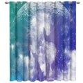 Луна лошадь звездное небо задний фон оконные шторы подвязка оконные шторы Темный Декор Ванная комната Кухня на открытом воздухе