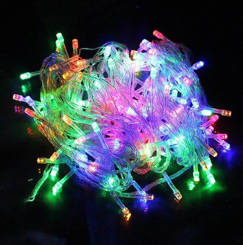 Lumiparty 10 м 100 LED Рождество Гирлянды светодиодные AC220V Праздничные огни строки для рождественской вечеринки Фея Водонепроницаемый Рождество Гирлянды светодиодные