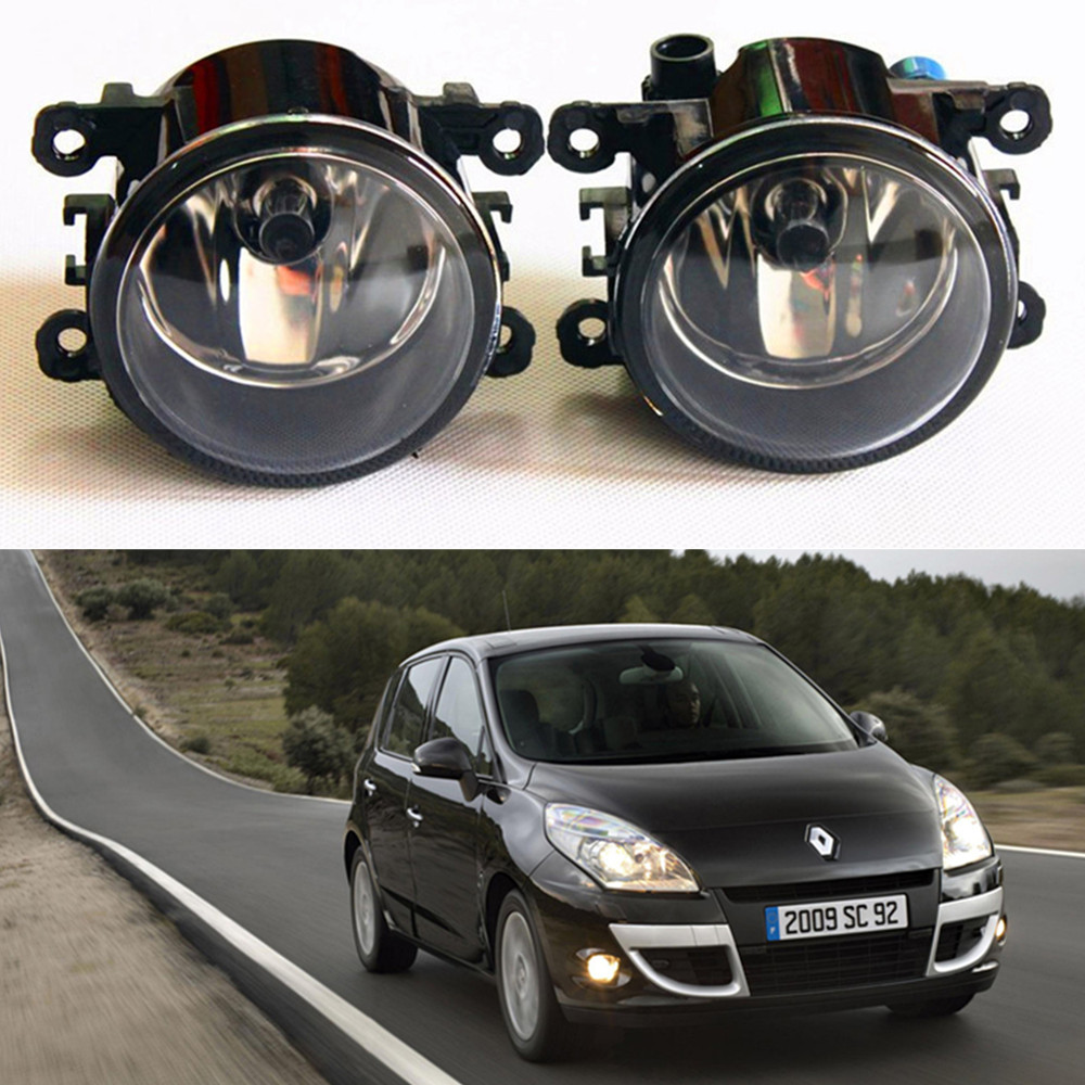 For Renault SCENIC III JZ0 JZ1 MPV  2009-2015 car light sources Fog Lamps Car styling Fog Lights Halogen  1SET куплю тормозные колодки на renault scenic rx4
