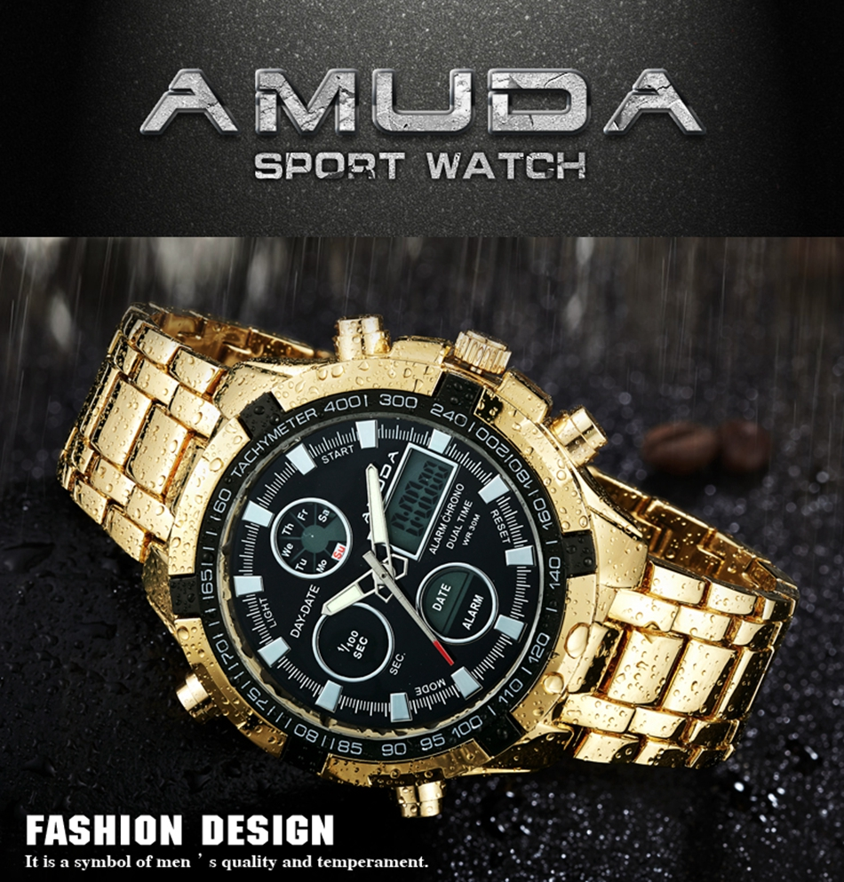 AMUDA chic  quartz wristwatches 2017 latest men's sport style double time display quartz wristwatches Relogio male Esportivo (2)