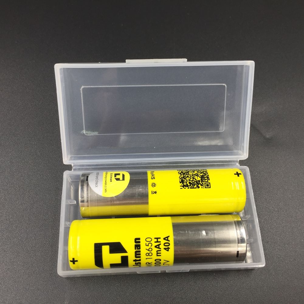 2pcs set with battery case Gift Listman 18650 Battery 3000mah 40a Li Mn battery for Electronic