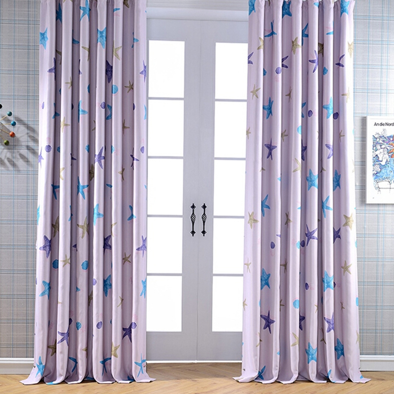 kids room printed window curtains blackout curtains window treatment drapes home mainland