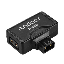 Andoer D Tap 5V USB Adapter Connector for V Mount Camcorder Camera Battery for BMCC Smartphone Monitor USB Adapter Connector