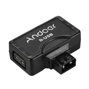 Andoer D-Tap 5V USB Adapter Connector for V-Mount Camcorder Camera Battery for BMCC Smartphone Monitor USB Adapter Connector