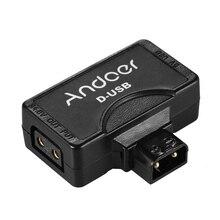 Andoer d tap 5V złącze adaptera USB do montażu w kształcie litery V aparat fotograficzny z kamerą bateria do monitora BMCC Smartphone złącze adaptera USB