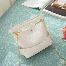 Chain PVC Clear Shoulder Bags For Women Crossbody sac transparant Messenger Girls Summer Mini Mobile Phone