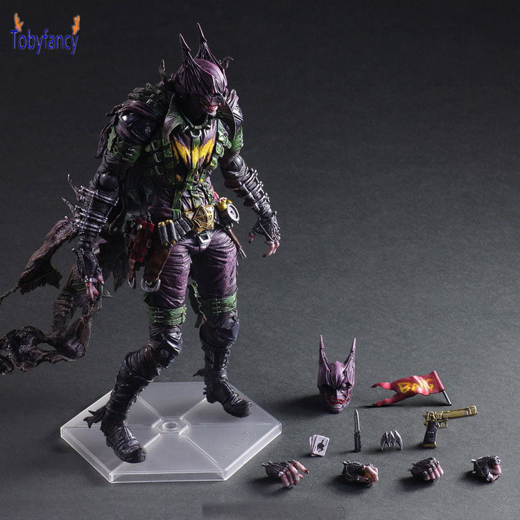 Batman Joker Play Arts Kai PVC Action Figure Rogues Gallery The Joker Anime Collectible Model Toy 260mm Bat Man Playarts Kai gogues gallery two face batman figure batman play arts kai play art kai pvc action figure bat man bruce wayne 26cm doll toy
