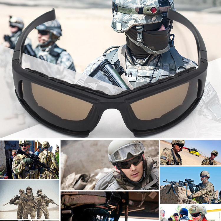Tactical Glasses Polarized Sunglasses Airsoft Paintball Hiking Military Goggles Hunting Shooting Eyewear With 4 Lens