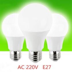 Лампада Светодиодная лампа E27 Smart Light Lulb AC 220 В 3 Вт 6 Вт 9 Вт 12 Вт 15 Вт 18 Вт 20 Вт лампада Холодный/лампы дневного света украшение стола