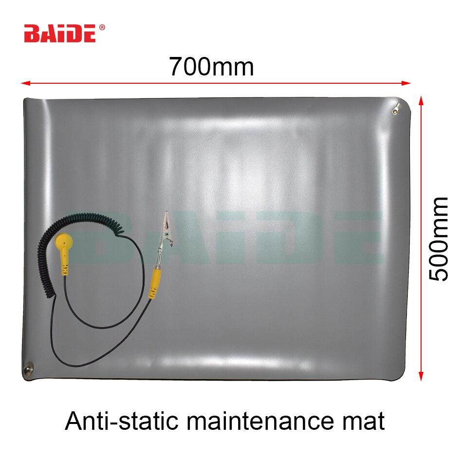 70*50 DIY Heat Insulation Silicone Pad Anti Static Mat PC Maintenance Desk Mat Soldering Repair Station + Ground Cord ESD Band