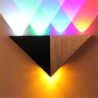 Boruit 5 W 5 LED Corpo de Alumínio Triângulo Lâmpada de Parede Moderna Para O Quarto Decoração de Casa Luminária de Iluminação Luz Do Banheiro