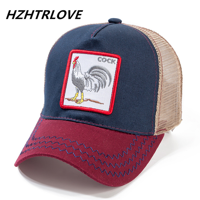 High Quality 12 Styles Animals Baseball Cap Cotton Breathable Mesh Snapback Caps Sun Hat For Women Men Bone Hip Hop Dad Hat