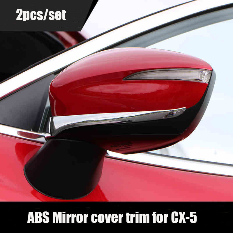 KOUVI Free shipping ABS chrome car <font><b>accessories</b></font> side mirror cover cap trim For <font><b>Mazda</b></font> CX-5 <font><b>CX5</b></font> <font><b>2015</b></font> 2016 image