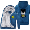 2017 Cosplay Thicken Hoodie Coat Luminous Zipper Jacket Sweatshirts men women Batman fashion Hoodies
