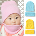 11 Colours Baby Hat Scarf Set Winter 2016 Fashion Cotton Baby Caps And Hats For Boys Girls Solid Newborn Baby Photography Hats