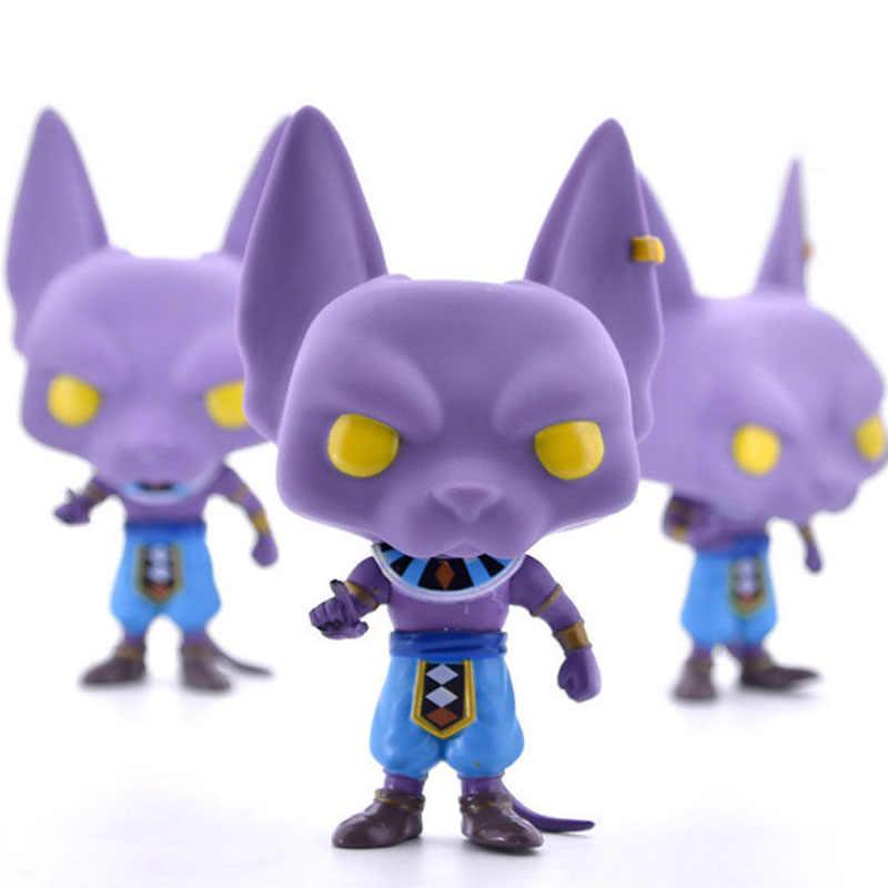 Funko pop Beerus pop animação Dragon Ball Z Action Figure Coleção Toy Modelo para o presente de aniversário das crianças