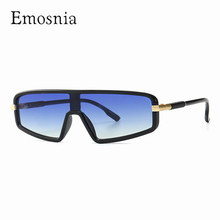 Men Blue Gradient Sunglasses Cool Smart One piece Lens Sun Glasses for Male Fema