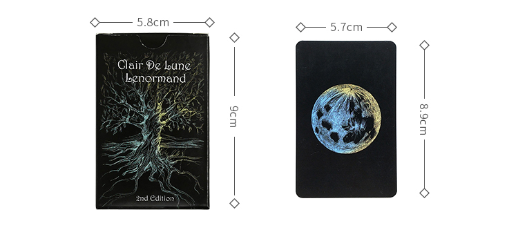 Full English Clair De Lune Lenormand Cards Factory Made High Quality Tarot Deck Board Game Cards