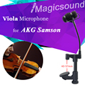Professional Lapel Condenser Ukulele Viola Microphone Music Instrument Microfone for AKG Samson Wireless System XLR-3Pin