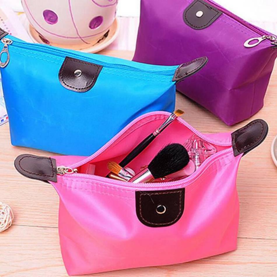 где купить 10 Color Dumpling Makeup Bag Solid Color Polyester Cosmetic Bag Around Soft Portable Korean Version Make Up Bag дешево