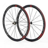 700C road bicycle 4 sealed bearing wheelset Super light Aluminum Alloy wheels flat spokes racing 40mm rims
