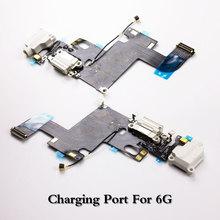 LEOLEO usb зарядный порт док-станция гибкий кабель для iPhone 6G 6 Plus Mircophone аудио разъем для наушников