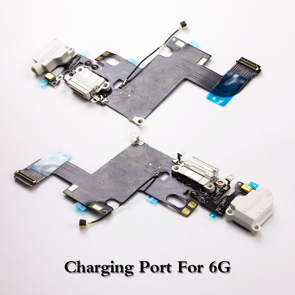 LEOLEO USB Charging Port Dock Connector Flex Cable For IPhone 6G 6 Plus Mircophone Headphone Audio Jack