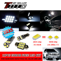 12x LED Car Auto Interior Canbus Dome Map Reading Light White 2835 Chips Kit For Mercedes