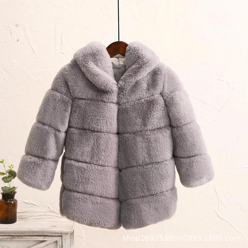 Image 3 - Dollplus New Winter Girls Fur Coat Elegant Thick Warm Baby Girl Faux Fur Jackets Coats Parka Kids Outerwear Clothes Kids Coat-in Jackets & Coats from Mother & Kids