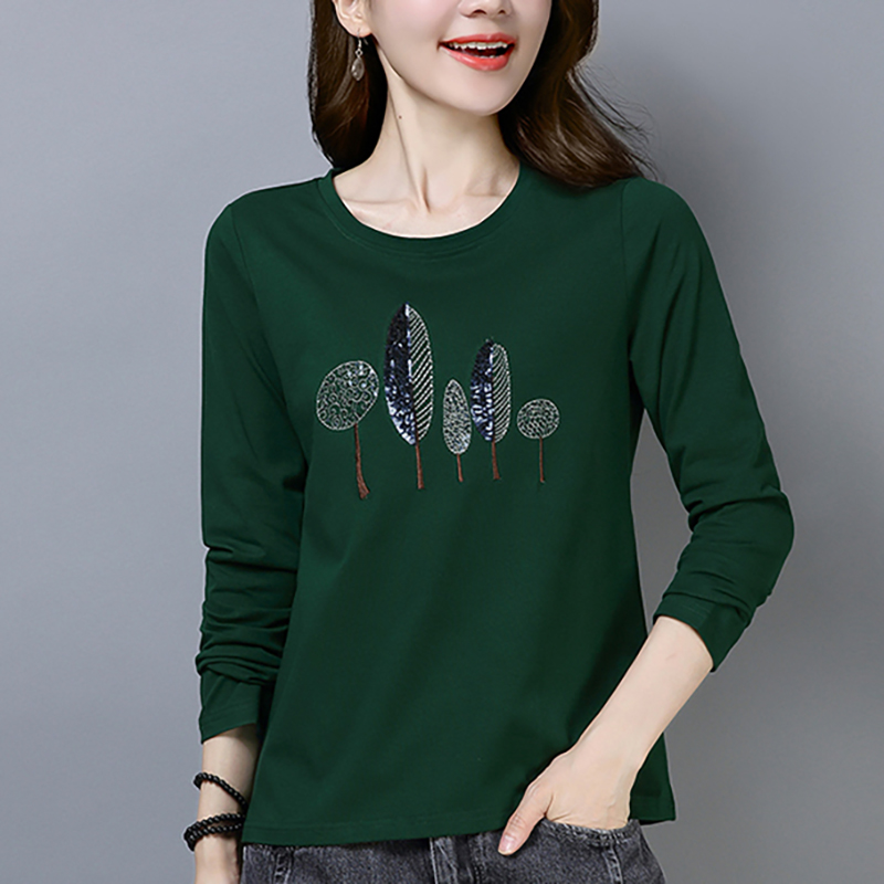 Shintimes Tee Shirt Femme Long Sleeve Women T-Shirt Cotton Korean Clothes T 2019 Tshirt Womens Clothing Autumn
