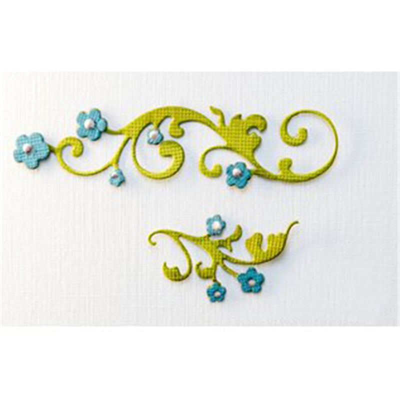 Eastshape Flower Vine Dies Metal Cutting Scrapbooking Swirls Plant Die Cut for Card Making Decorative Craft Dies New 2019 in Cutting Dies from Home Garden