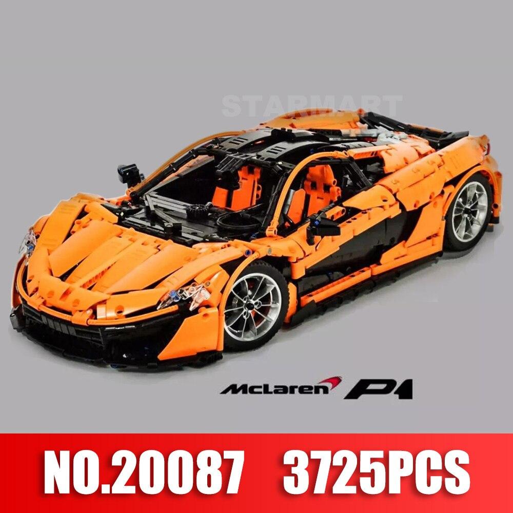 Новый 2018 Лепин 20087 метод McLarened P1 Hypercar 1:8 суперкар F1 гоночный автомобиль строительный блок Совместимо с Lego MOC игрушка кирпичи