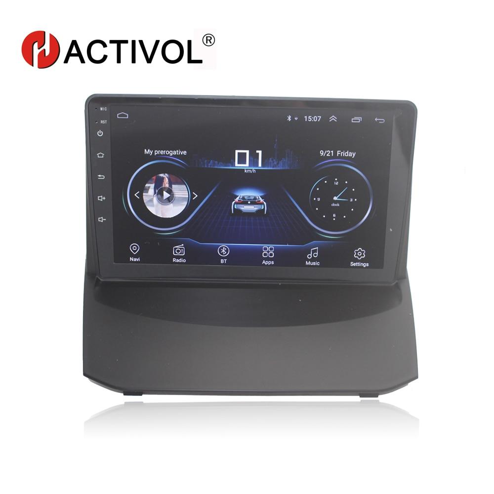 HACTIVOL 9 1024*600 Quadcore android 8.1 car radio for Ford Fiesta 2009 2016 car DVD player GPS Navi wifi bluetooth