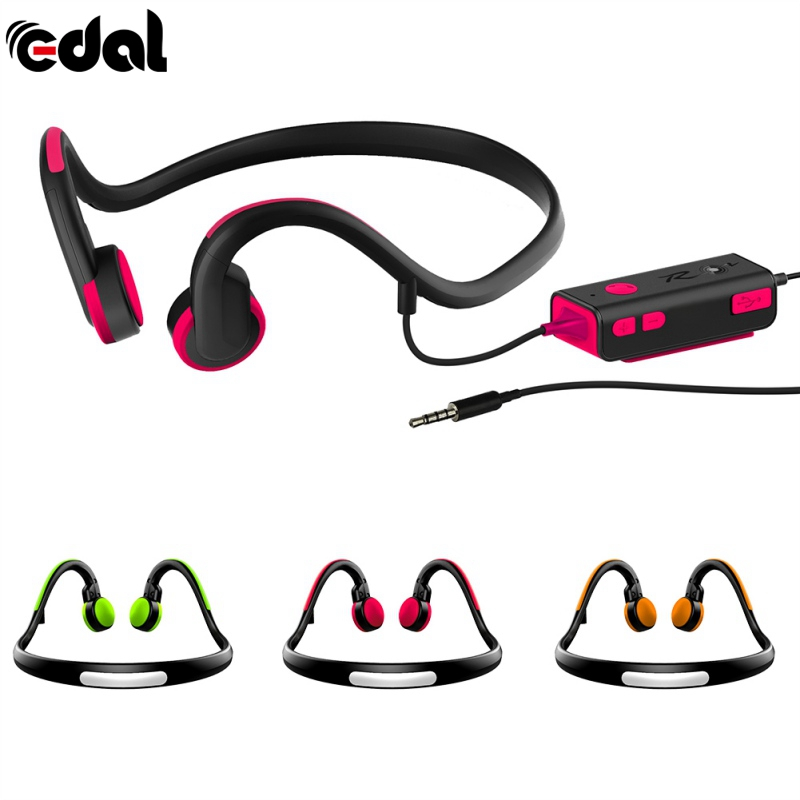 Conduction Headsets Wired Earphone Outdoor Sports Headphones Noise Reduction Hands-free with Mic for Smart Phones Tablet