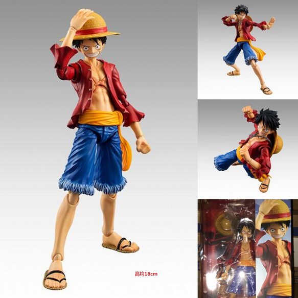 2017 new Japan anime one piece luffy Monkey D 13 joint Movable series collectible pvc action figure model toy childrens 18cm