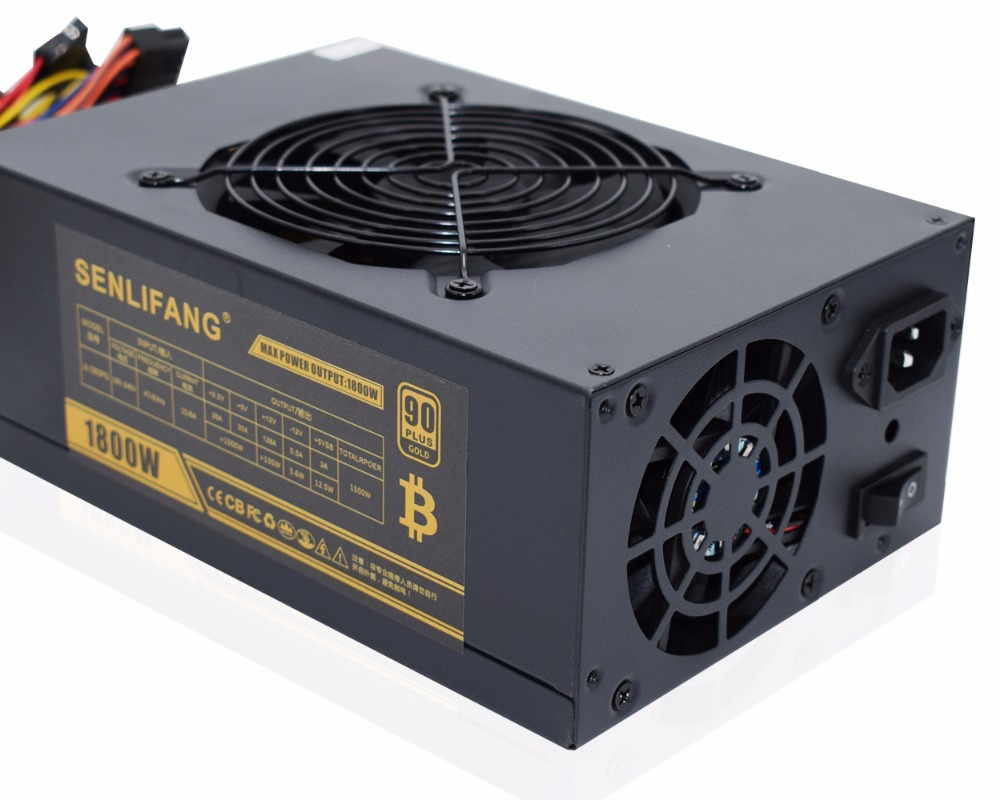 BRAND NEW ETH ZCASH MINER Gold POWER 1800W LIANLI 1800W BTC Power Supply For R9 380