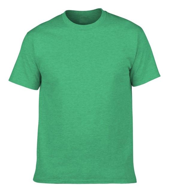 8f88dfe48b EnjoytheSpirit Cotton T-shirt Digital Print Plain T Shirt Military Forest  Irish Green Heather Green Men Custom Logo Printed