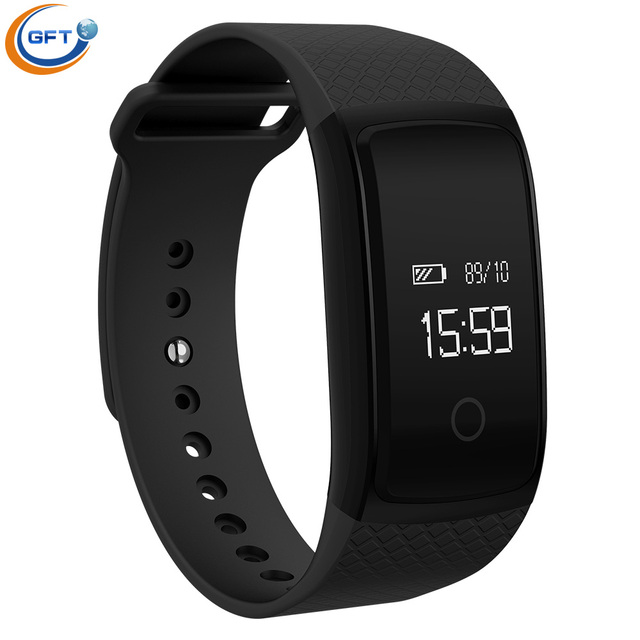 GFT A09 2017 Nueva Llegada Smartwatch Pulsera Soporte de Frecuencia Cardíaca Y Monitor de Pulsera Inteligente Con Sleep Tracker Dispositivos Portátiles