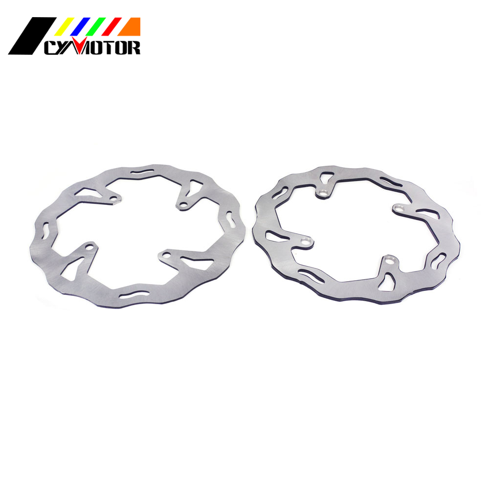 Motorcycle Steel Rear Front Brake Disc For KAWASAKI KX125 KX250 06-08 KX250F KX450F 06-14 KX 125 250 250F 450F KLX450R KLX 450R motorcycle leather soft anti slip seat cover for kawasaki kx125 kx250 kx 125 250 1994 1995 1996 1997 1998 motocross dirt bike